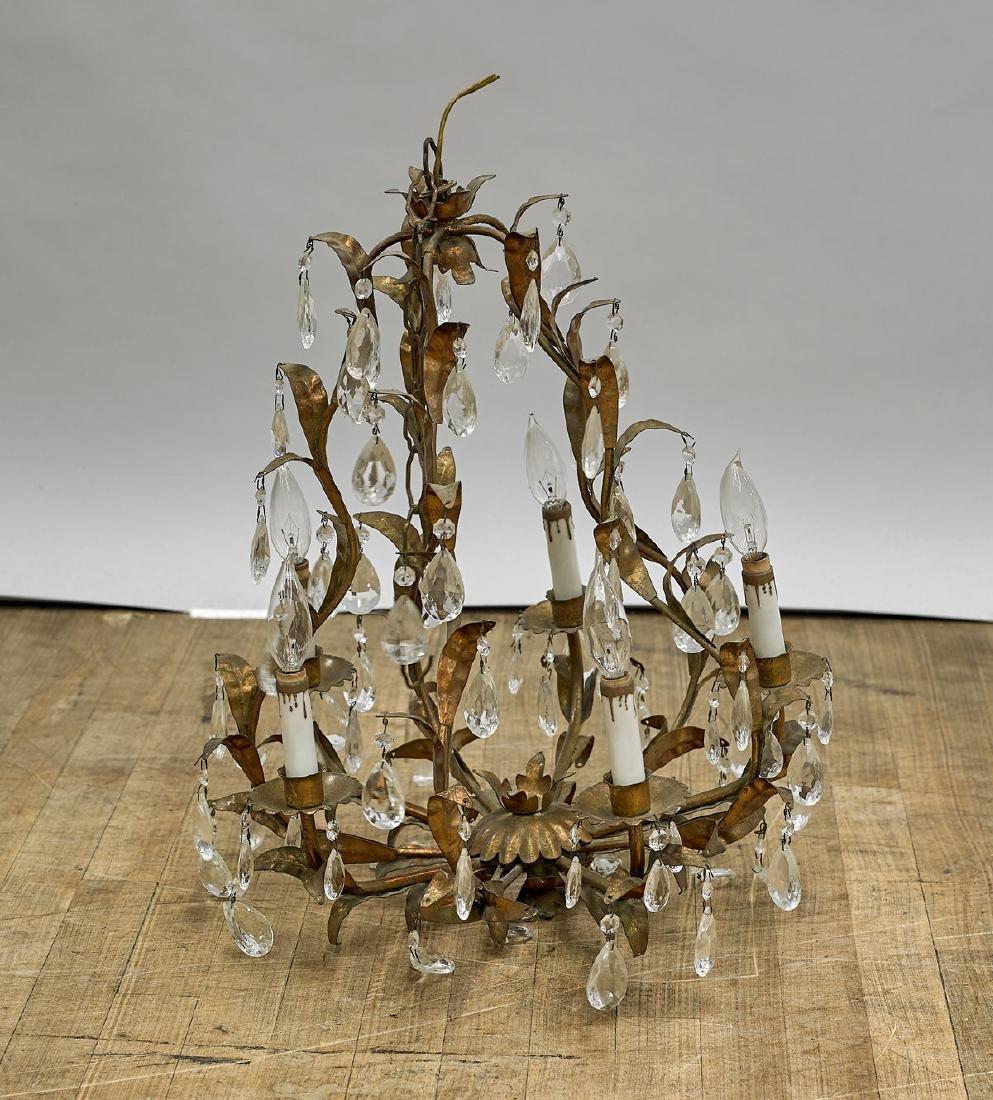 Brass & Glass Chandelier