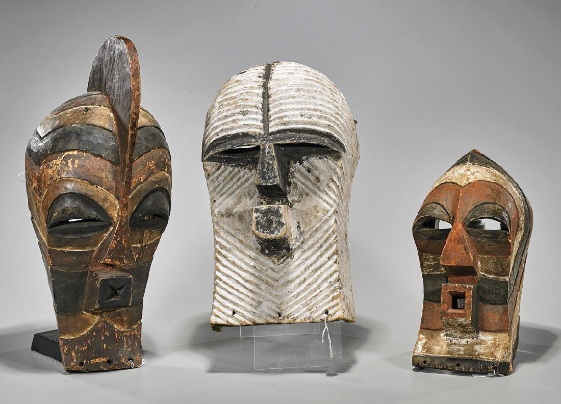 Three Songye 'Kifwebe' Masks