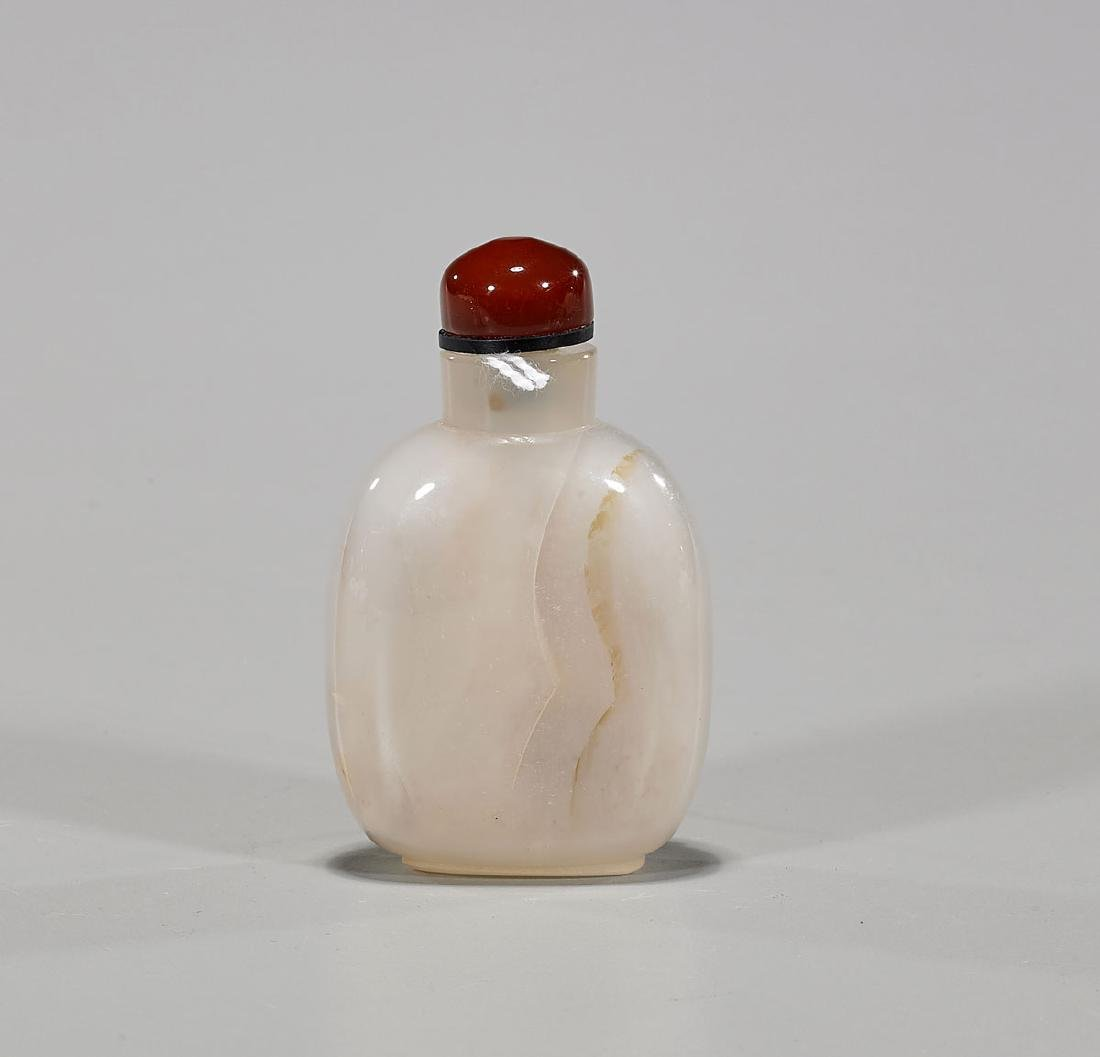 Chinese Cameo Agate Snuff Bottle - 2