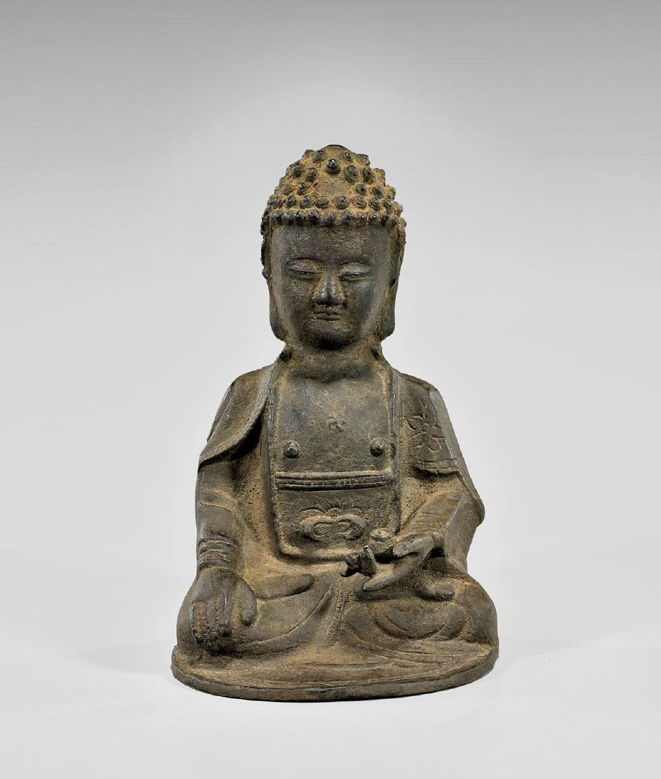 KOREAN BRONZE AMITABHA BUDDHA