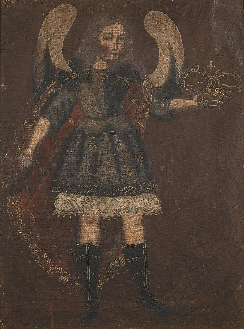 SPANISH COLONIAL OIL PAINTING