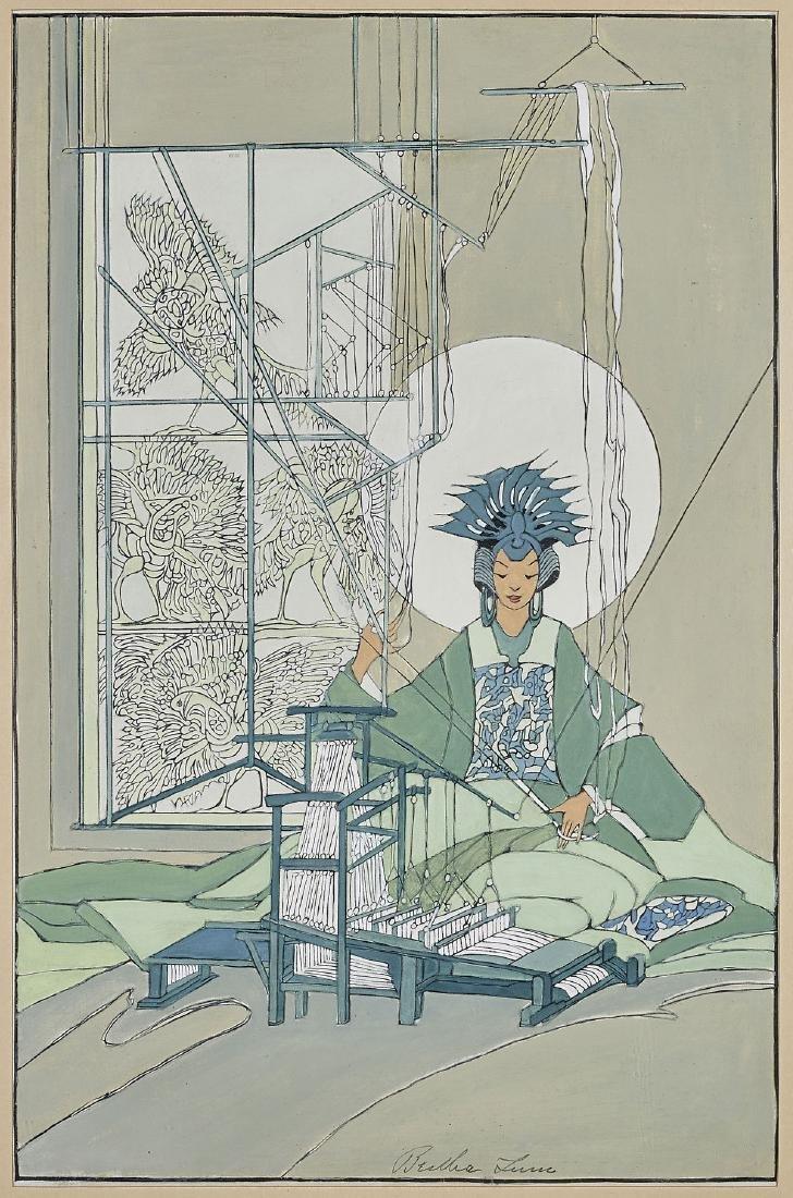 RAISED LINE PRINT BY BERTHA LUM: Spinning Goddess