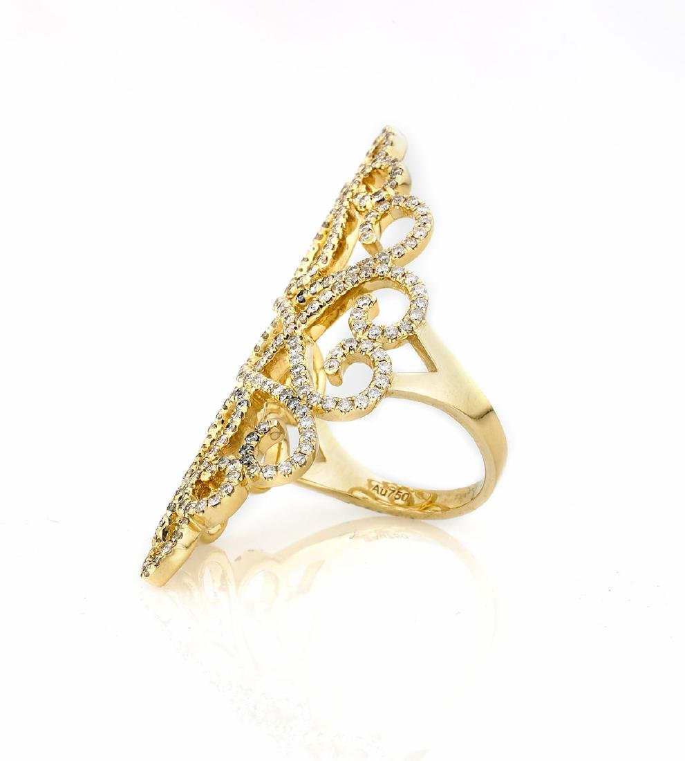 DIAMOND & 18K GOLD RING - 2