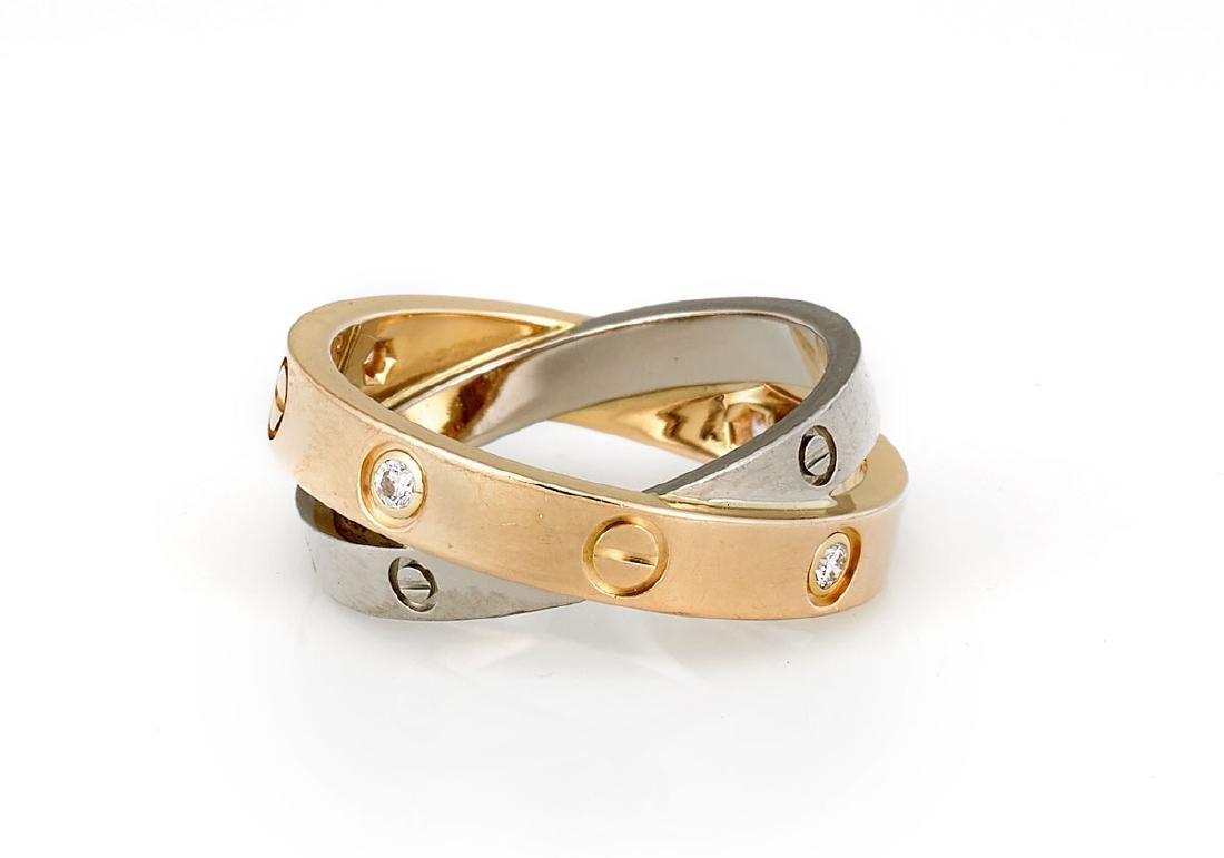 CARTIER DIAMOND & 18K GOLD 'LOVE' RING