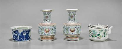 Group of Four Chinese Porcelains