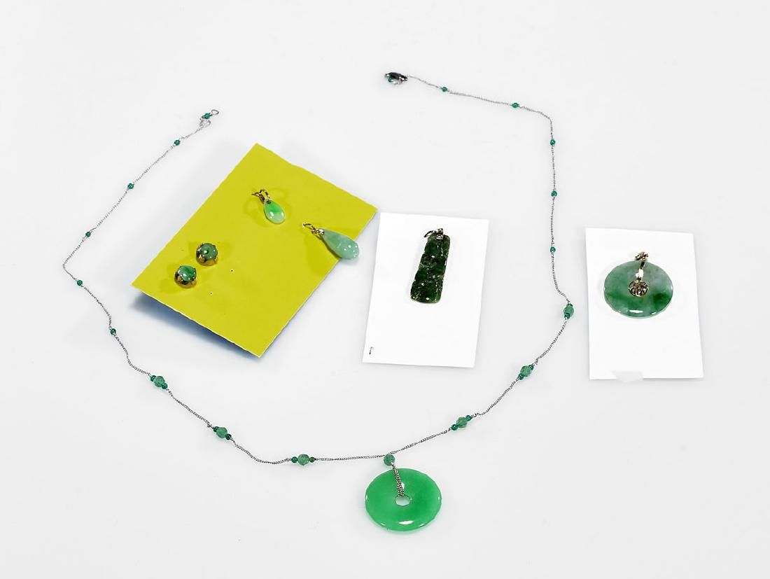 Group of Chinese Jadeite Jewelry