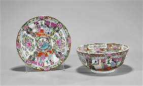 Two Chinese Rose Medallion Porcelains Bowl  Dish