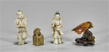 Group of Four Chinese Carvings