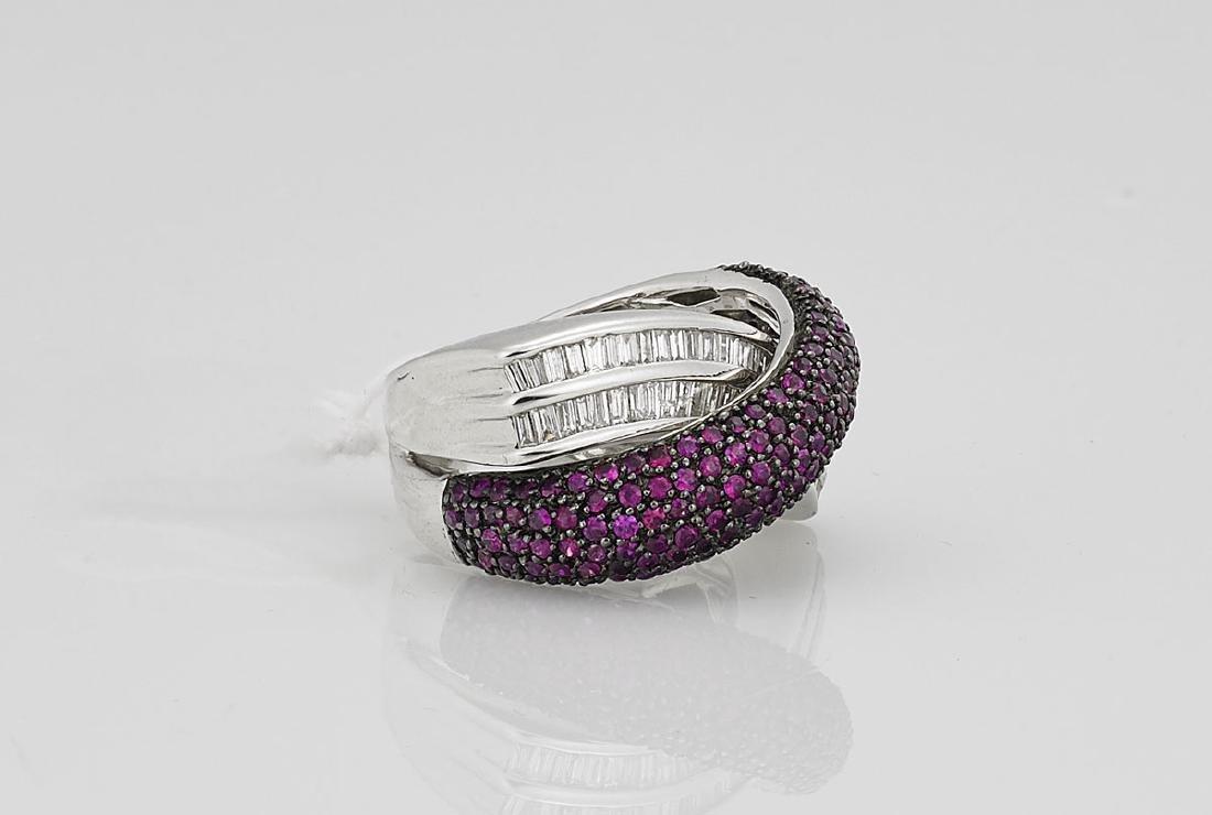 18K Gold, Ruby & Diamond Ring - 2