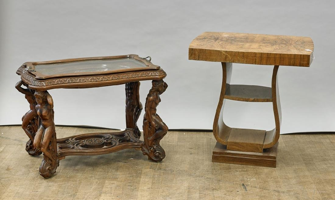 Two Wood Side Tables
