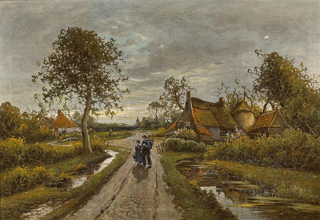 OIL PAINTING BY WILHELM RUPPRECHT