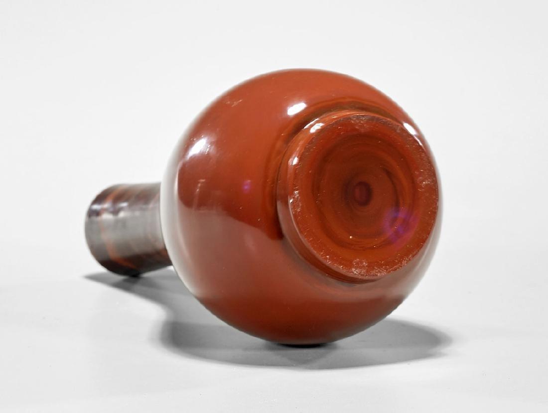 MARBLED GLASS BOTTLE VASE - 2