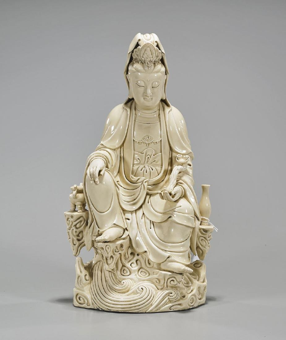 Chinese Blanc De Chine Figure of Guanyin