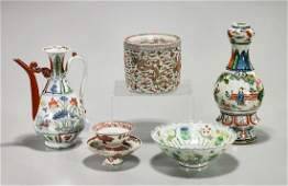 Group of Five Various Chinese Porcelains