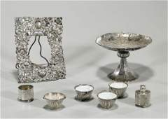 Group of Eight Chinese Sterling Silver & Silverplate