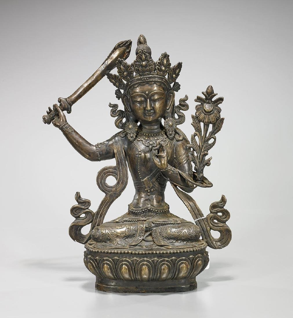 Chinese Bronze Seated Figure