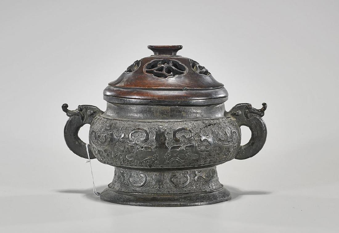 Archaistic Chinese Bronze Censer