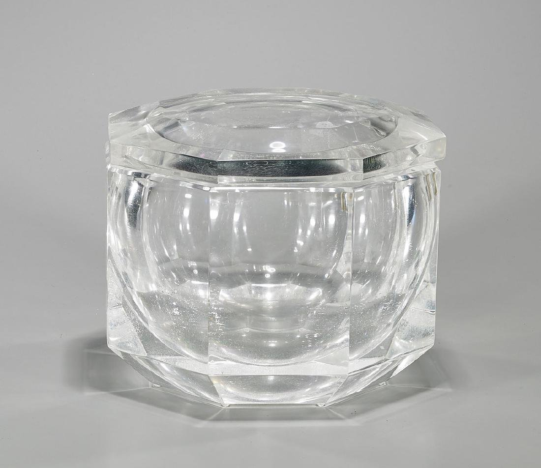 Lucite Ice Bucket Attributed To Alessandro Albrizzi