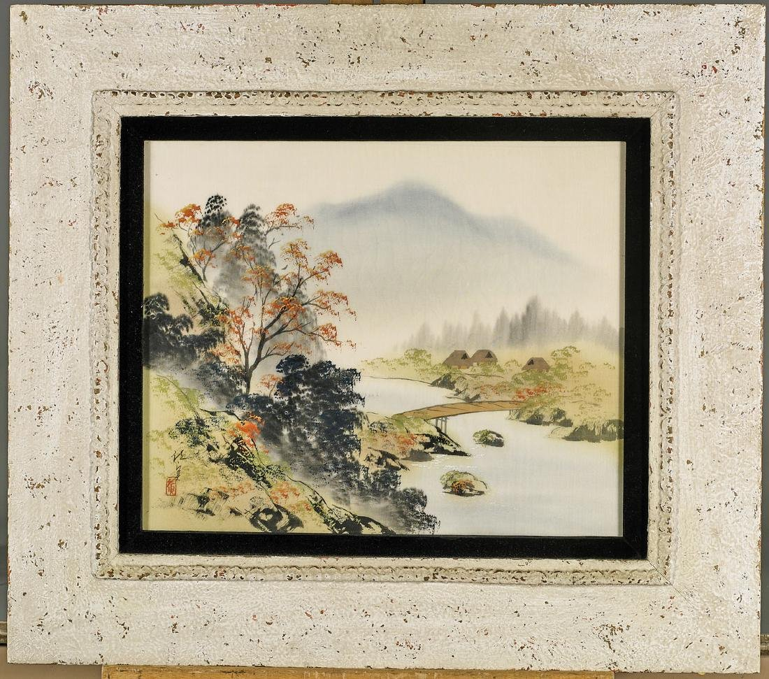 Pair Old Chinese Paintings - 3