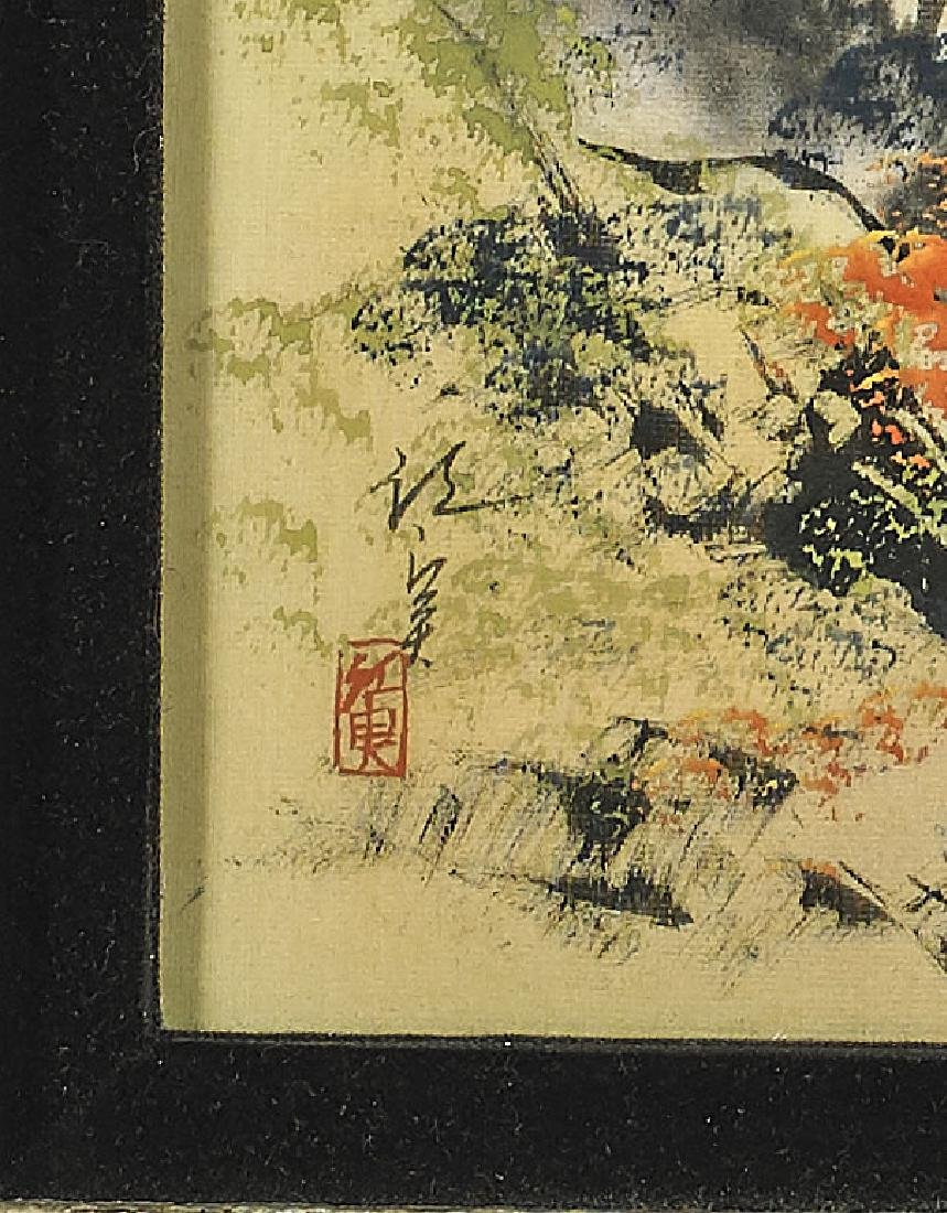 Pair Old Chinese Paintings - 4