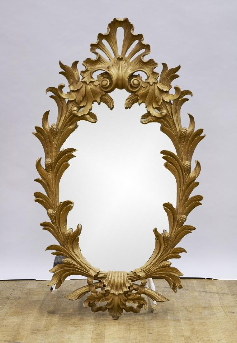 Carved & Gilt Wood Mirror