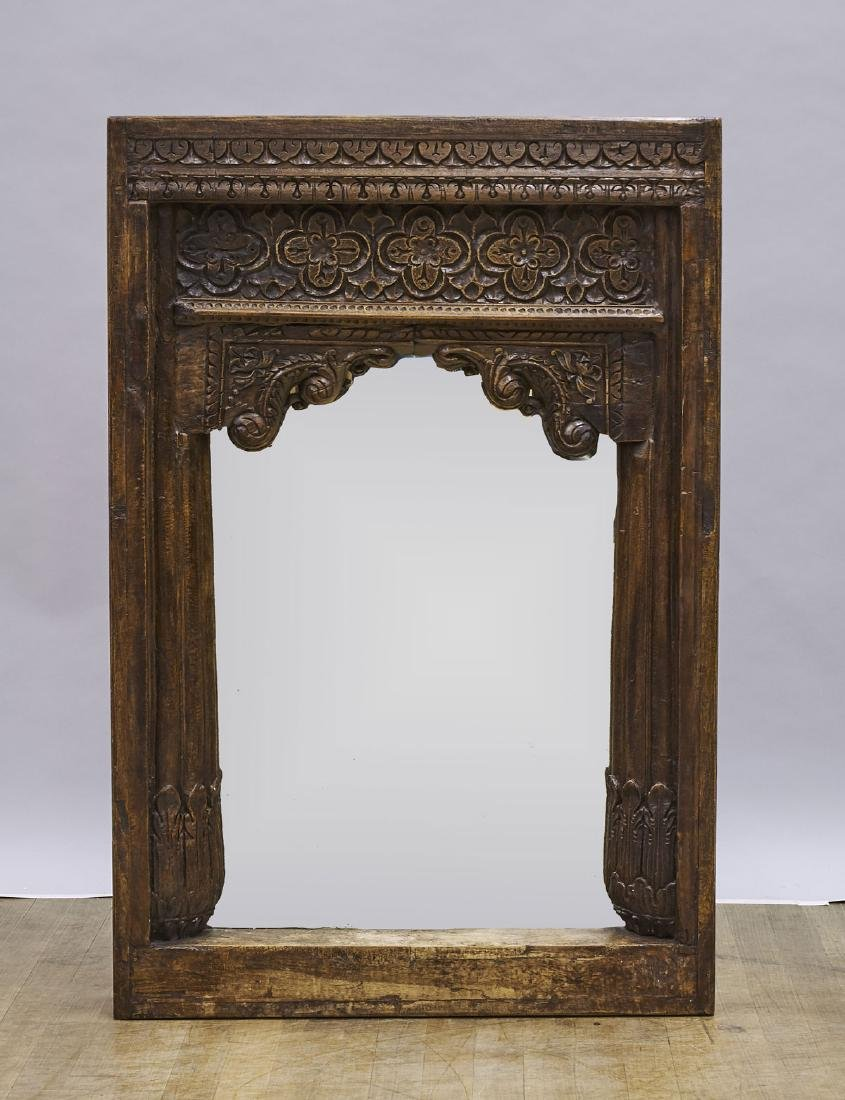 Large Carved Wood Mirror
