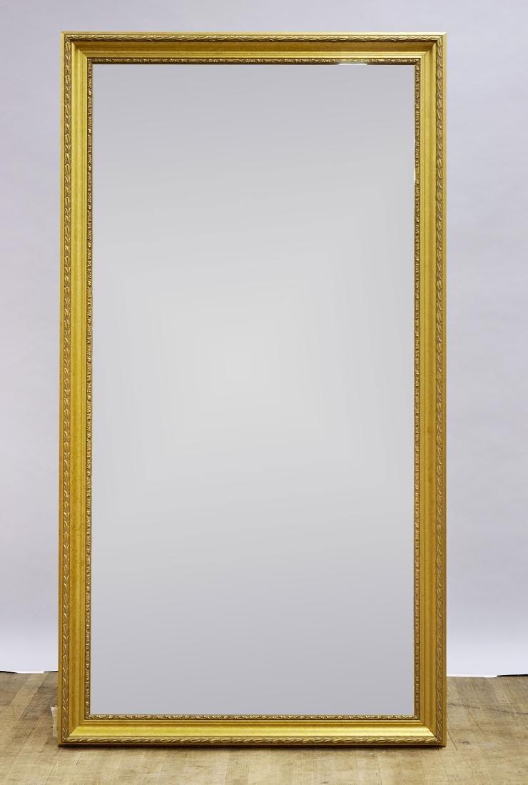 Pair Large Gilt Wood Mirrors - 2