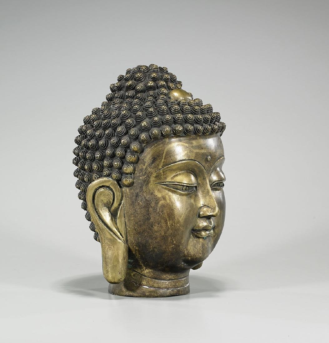 Chinese Bronze Head of Buddha - 2