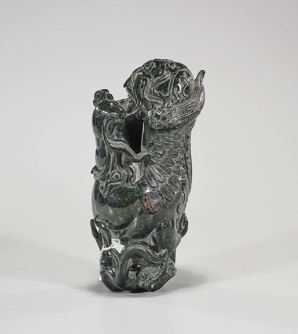 Chinese Carved Jade Or Hardstone Bird