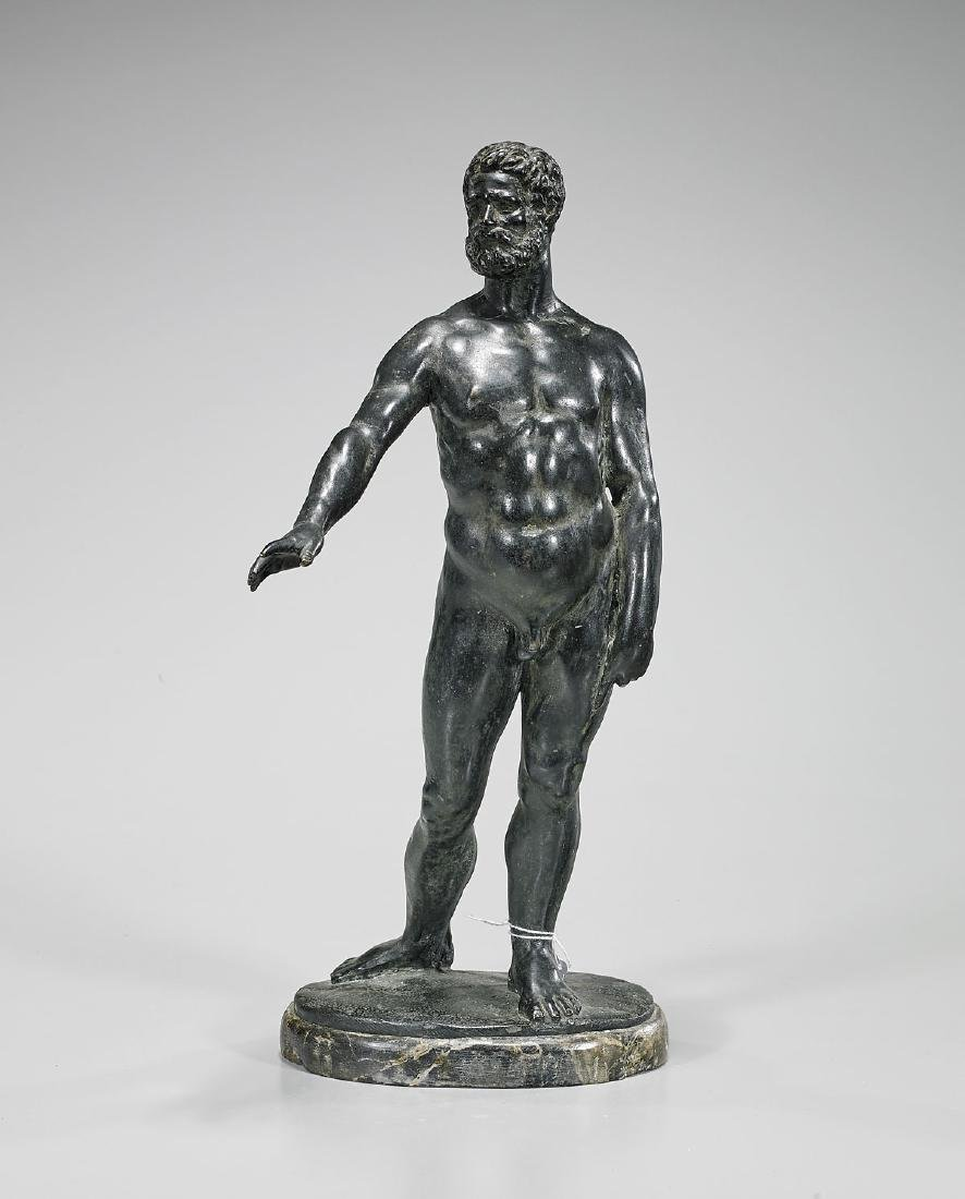 Old Bronze Figure of a Man