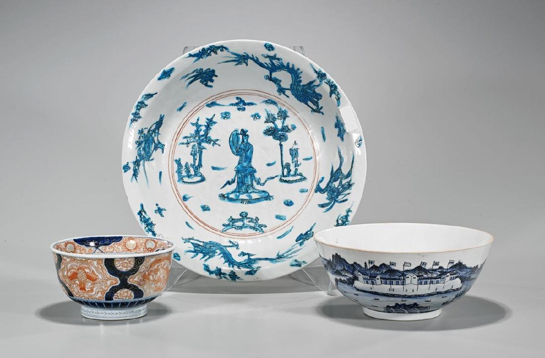 Group of Three Chinese Porcelains