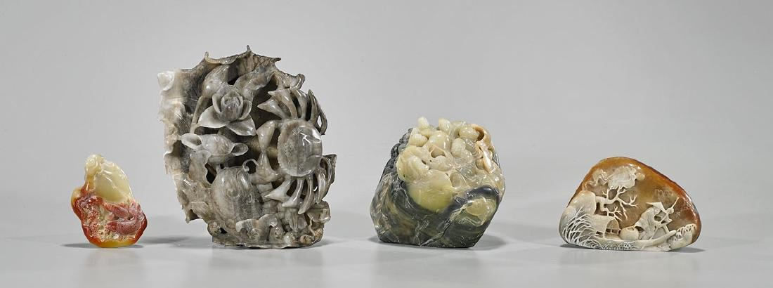 Four Chinese Soapstone Carvings