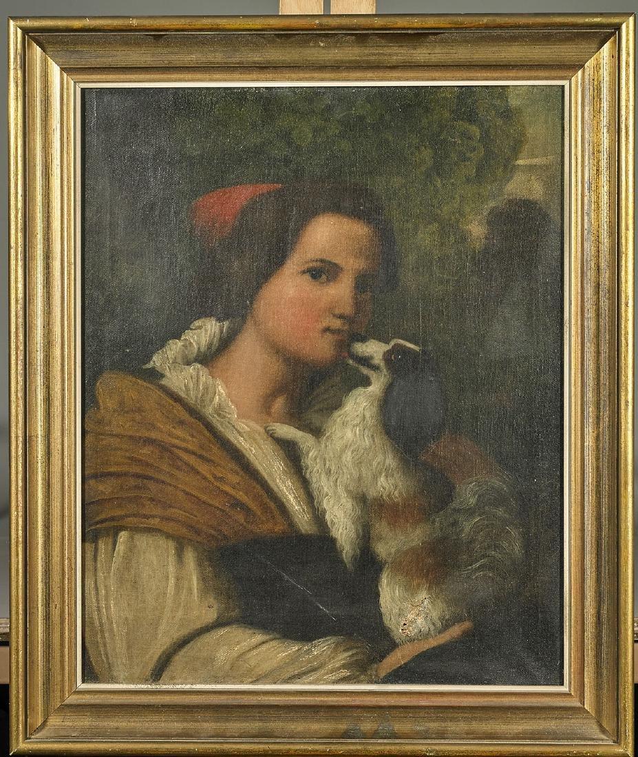 Antique Oil Portrait on Canvas