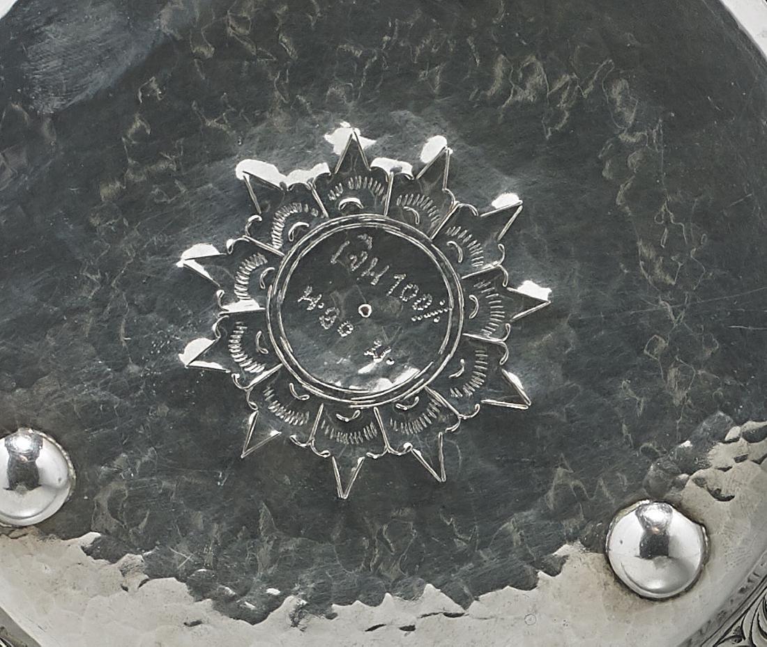 Burmese Repousse Silver Bowl - 2