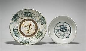 Two Antique Southeast Asian Ceramic Dishes