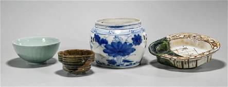 Group of Four Japanese Ceramics