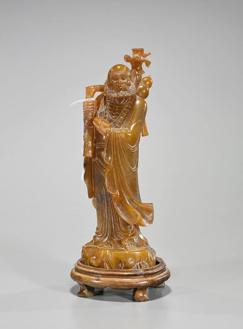Chinese Carved Soapstone Standing Figure