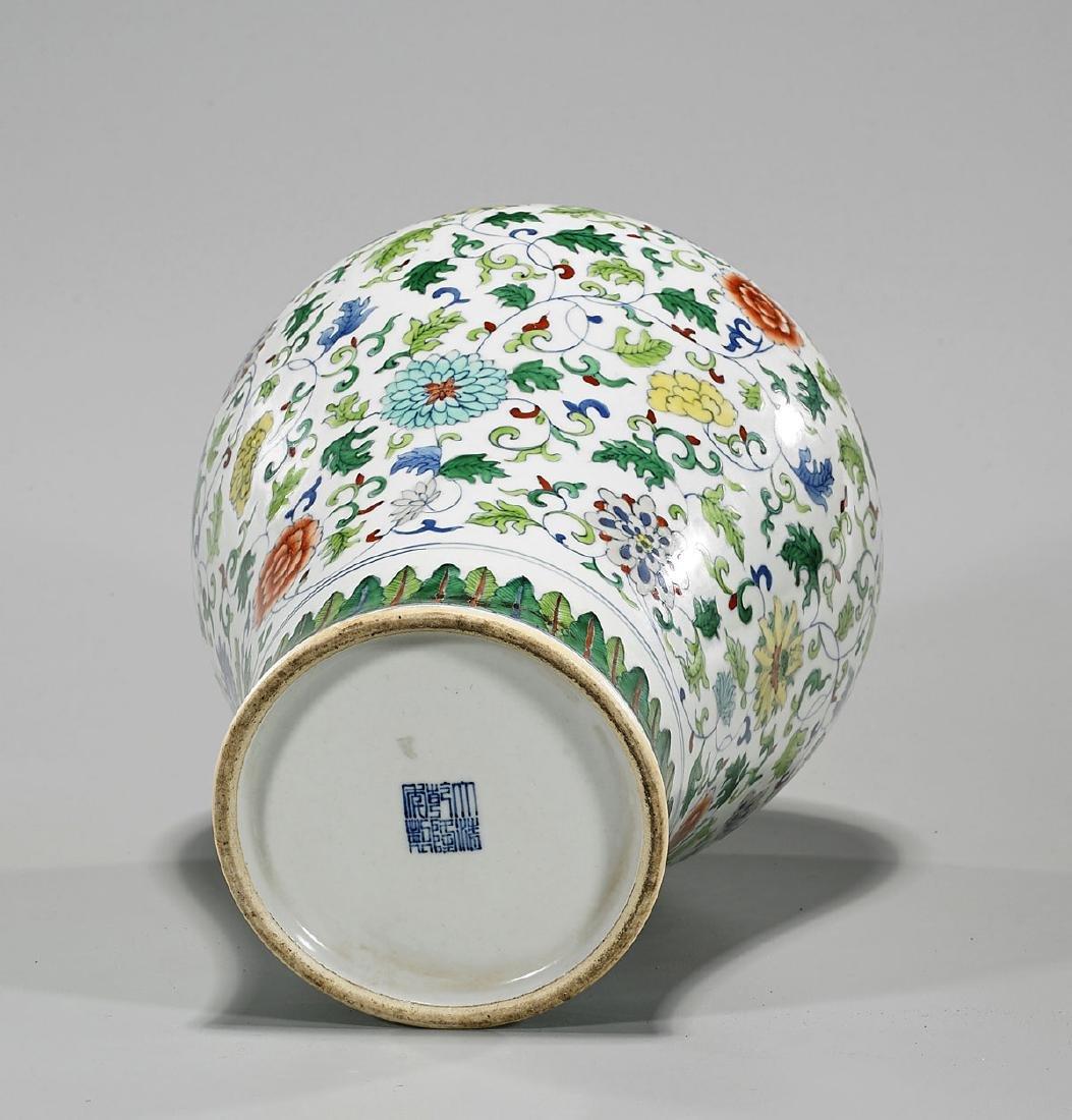 Chinese Doucai Enameled Porcelain Vase - 2