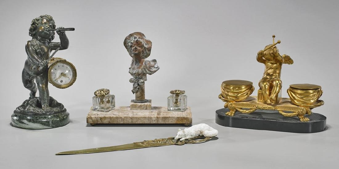 Group of Four Various Desk Pieces