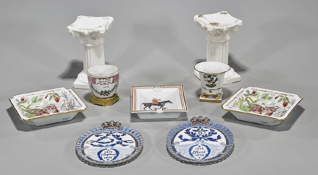 Group of Nine Various Porcelains