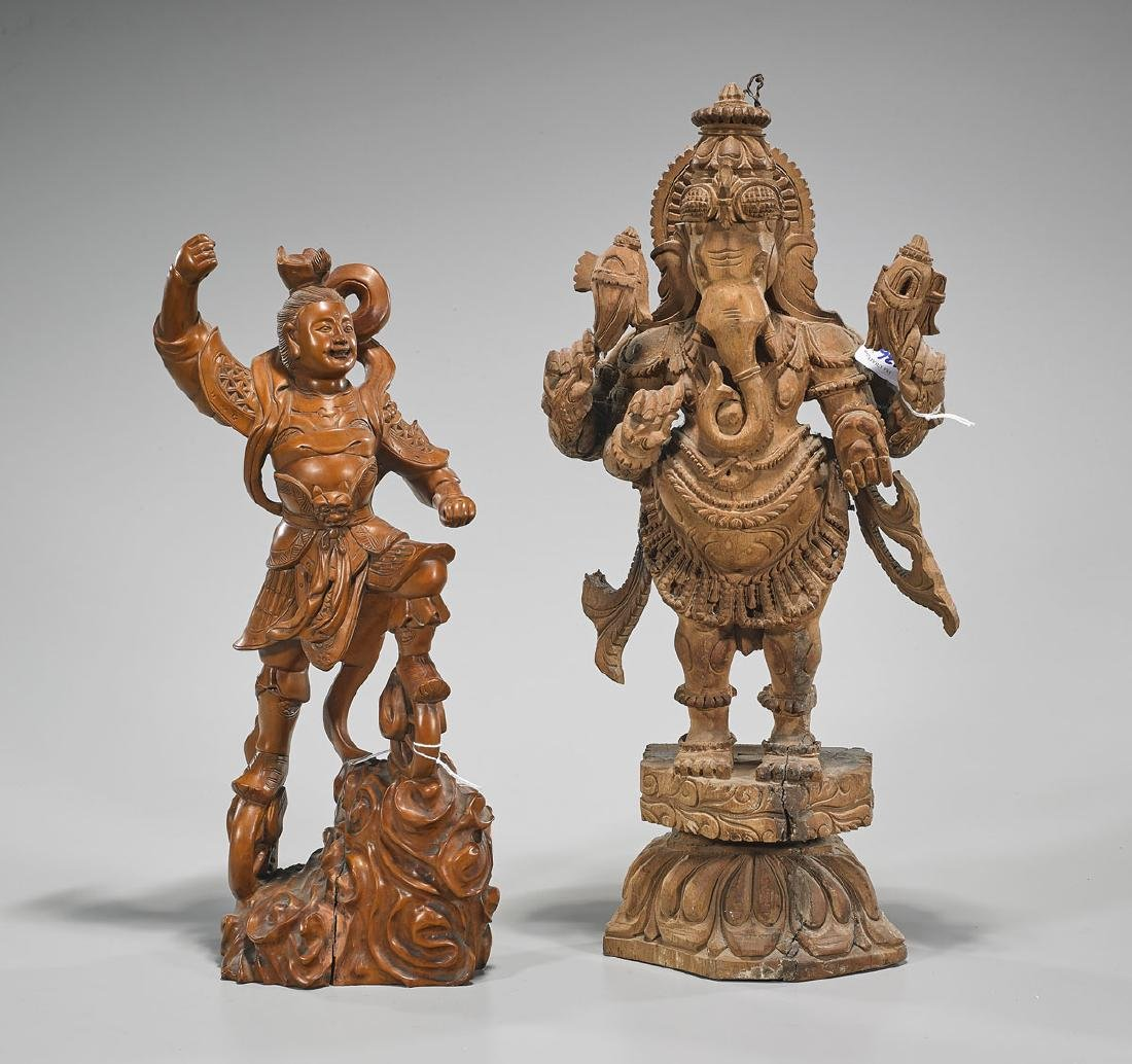 Two Carved Wood Figures