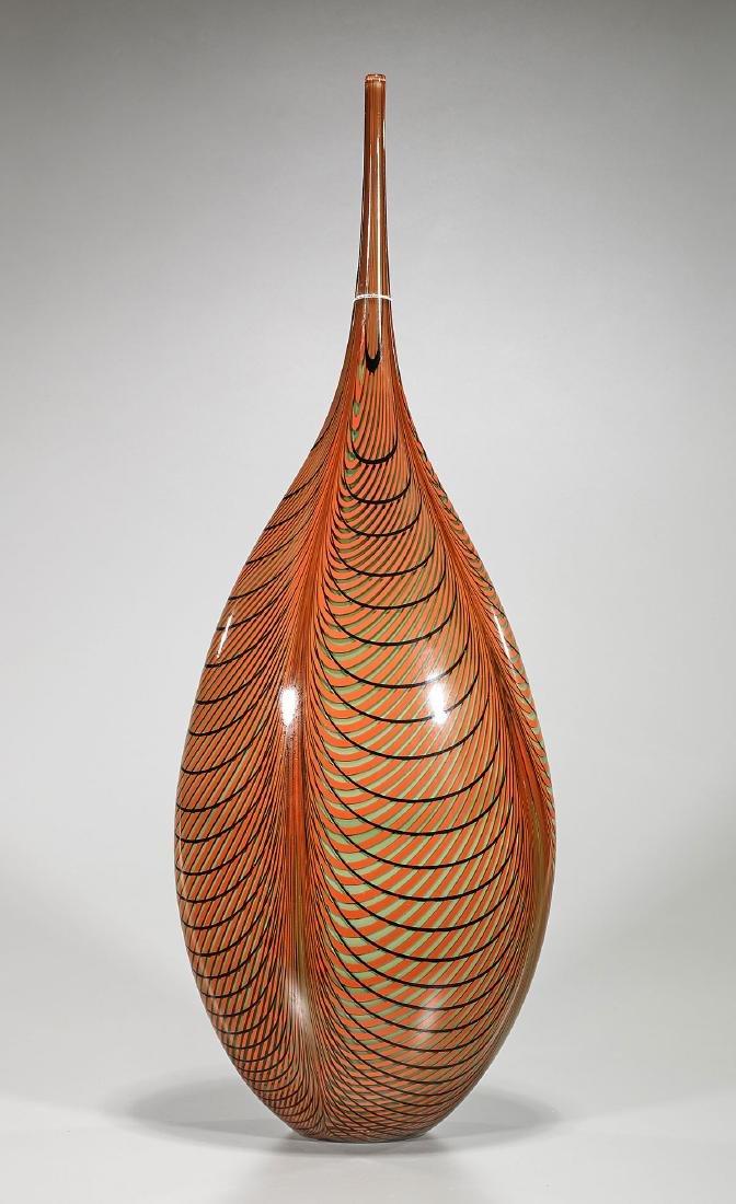 Murano Glass Vase By Alberto Dona