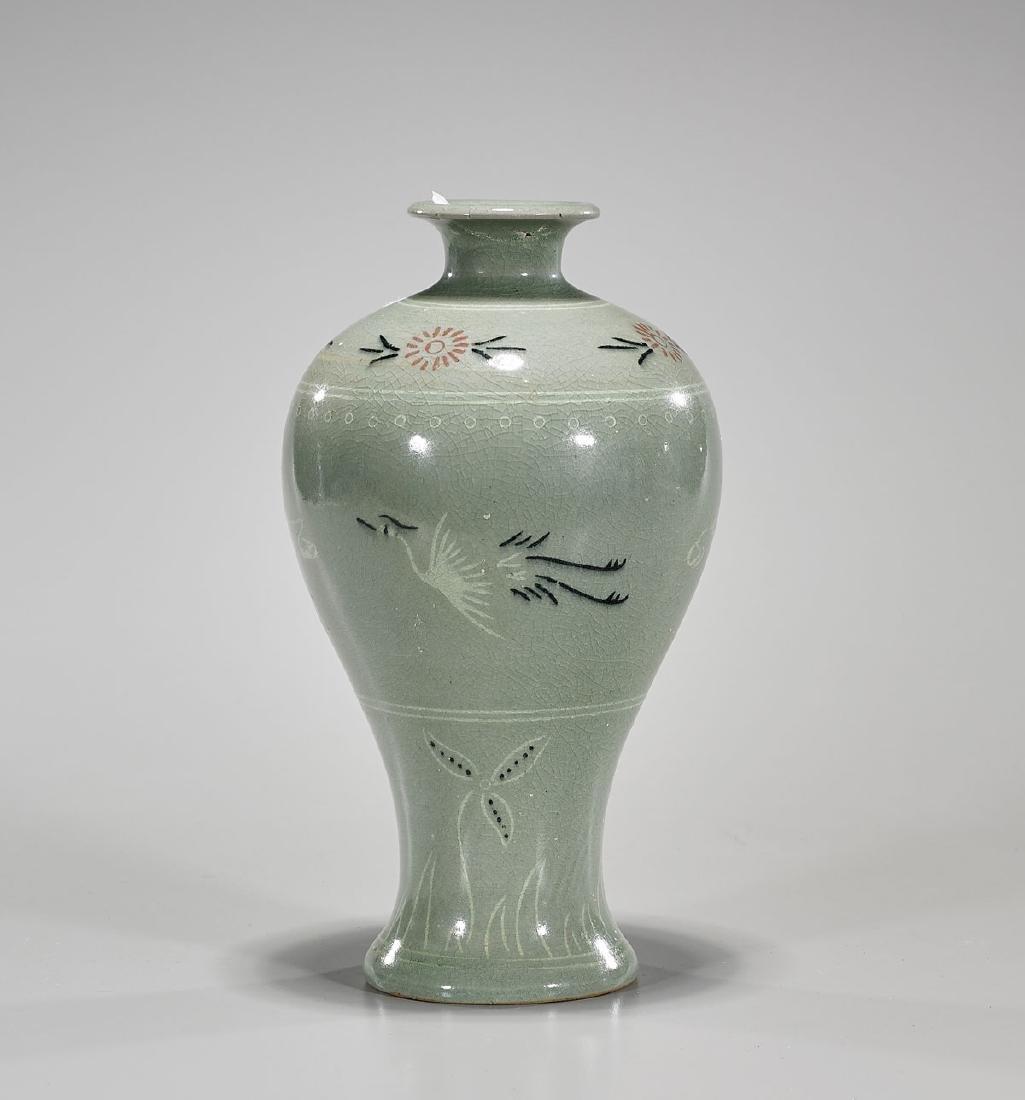 Korean Celadon Glazed Vase