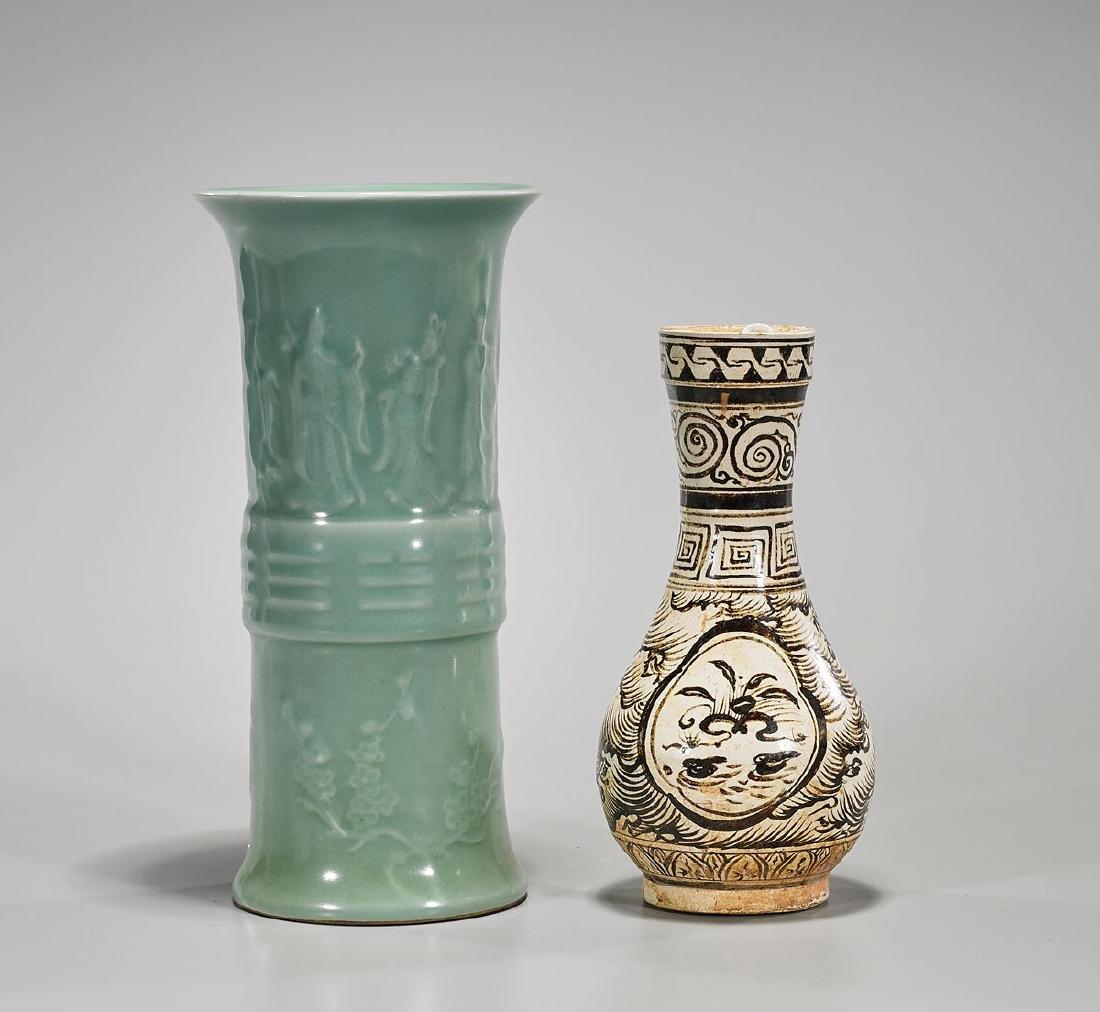 Two Chinese Glazed Vases