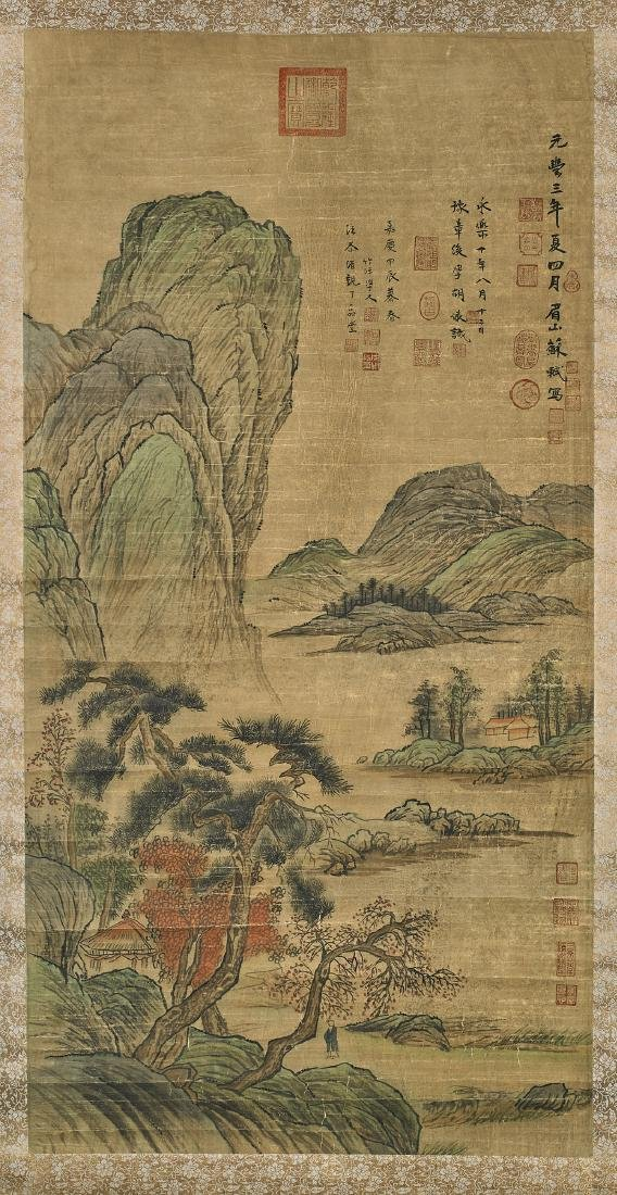 Group of Three Chinese Scrolls - 5