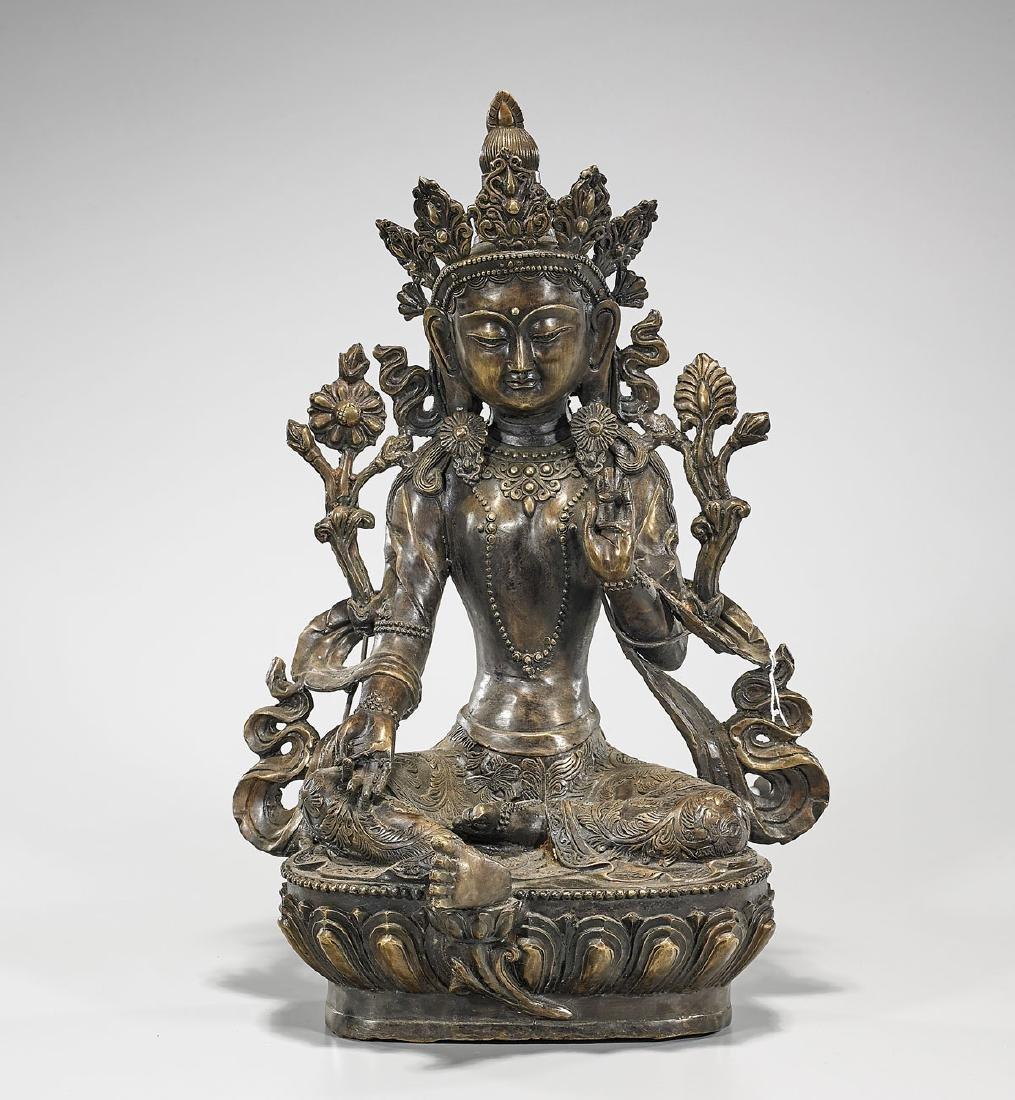 Chinese Bronze Seated Figure