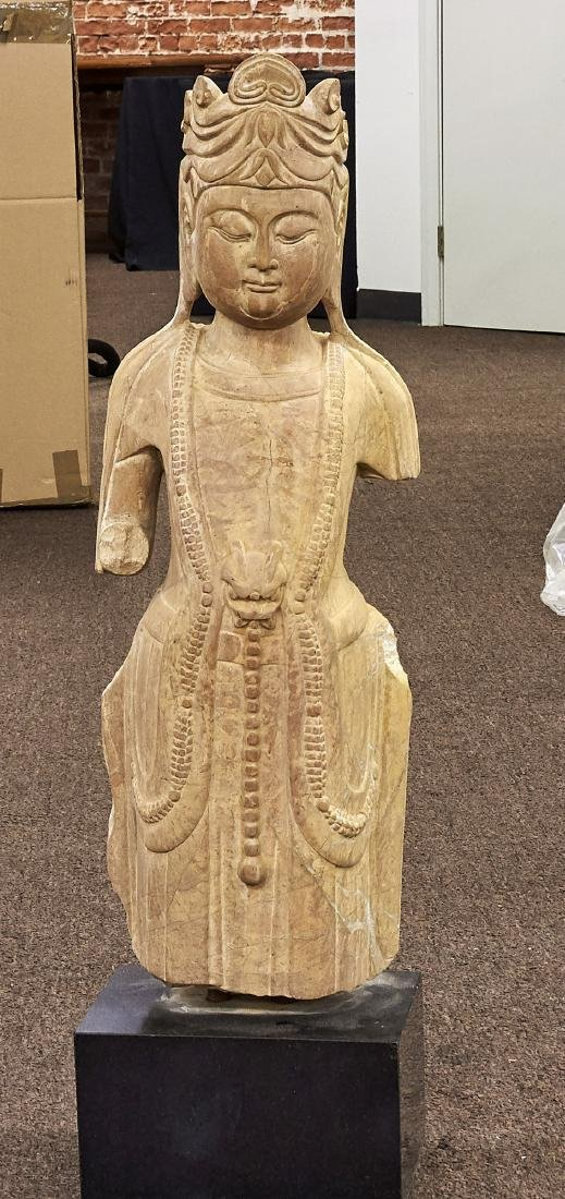 Chinese Tang-Style Carved Stone Figure
