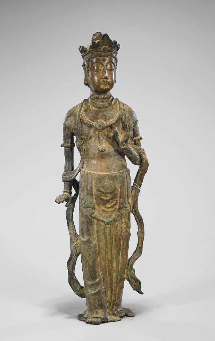 Chinese Bronze Figure of Guanyin