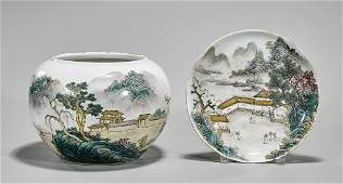 Two Chinese Famille Rose Enameled Porcelains