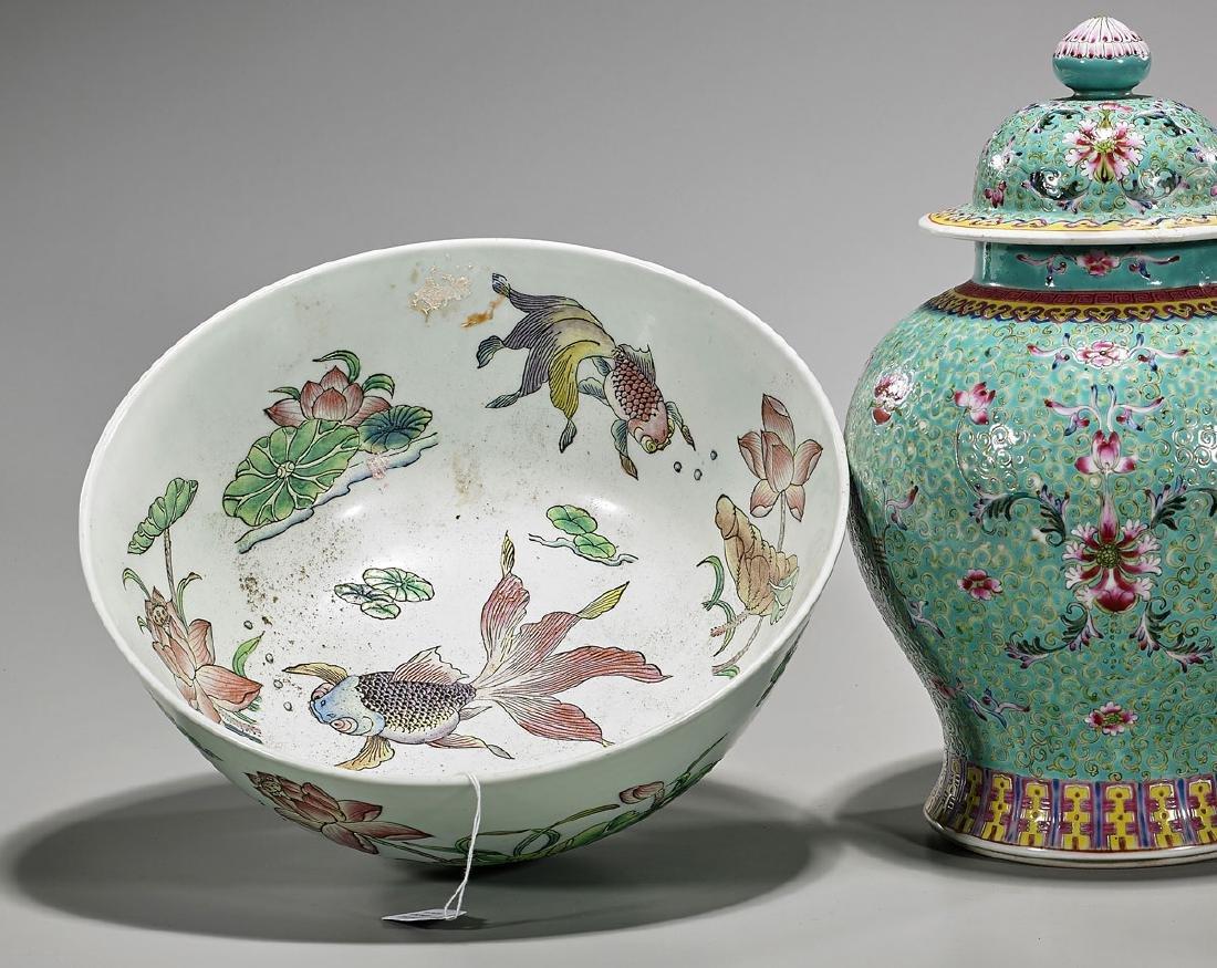 Group of Three Chinese Enameled Porcelains - 2